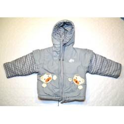 Uniszex fekete polár béléses téli kabát ( 140 cm )