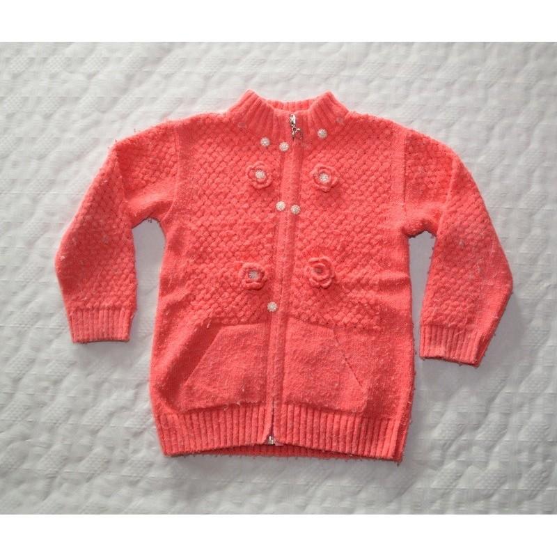 Kislány rózsaszín feliratos pulóver (140 cm)