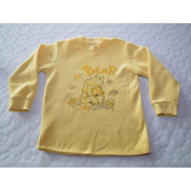 Kislány sárga meleg pulóver (116 cm)