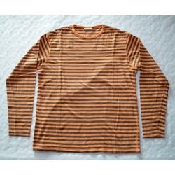 Férfi narancs csíkos pulóver ( XXL )