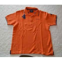Gyerek narancs színű galléros póló (9-10 év)