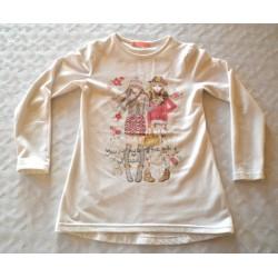 Kislány mintás pulóver (116-122 cm)