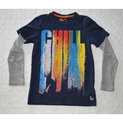 Fiú pulóver. Kék, mintás (134 cm)