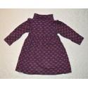 Hosszú ujjú, szívekkel díszített kislány ruha (104 cm)