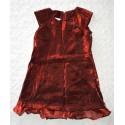 Kislány bordó ruha ( 92-98 cm)