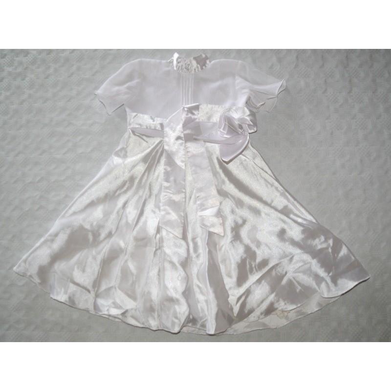 Kislány fehér ruha ( 92-98 cm)