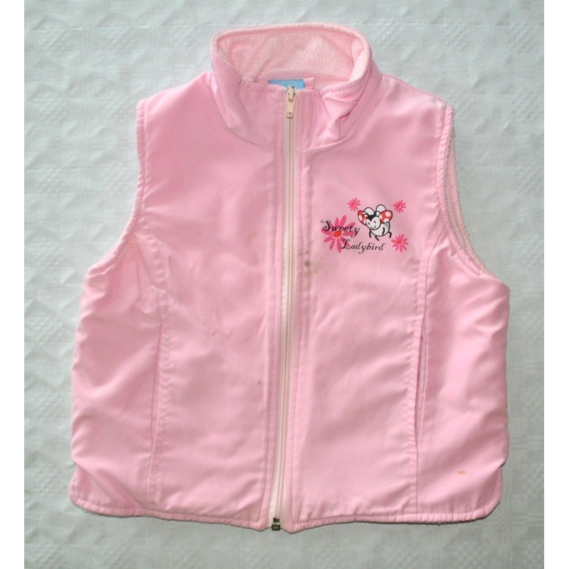 Kislány rózsaszín mellény ( 92 cm)
