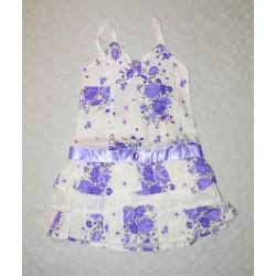 Kislány ruha, lila boleróval ( 104 cm)