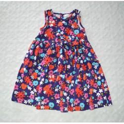 Kislány mintás ruha ( 98 cm)
