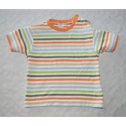 Uniszex csíkos patentos póló ( 80 cm)