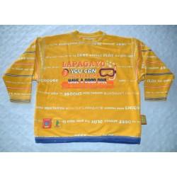 Fiú sárga pulóver ( 116 cm)