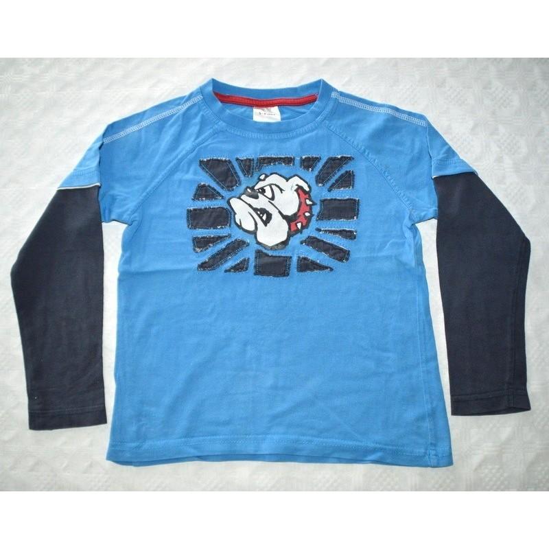 Fiú kék pulóver ( 116 cm)