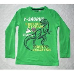 Fiú mintás zöld pulóver ( 122 cm)