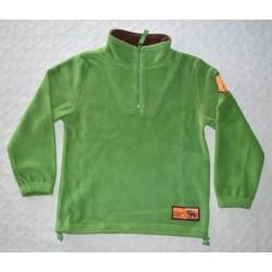 Fiú, zöld, meleg polár pulóver ( 134 cm)