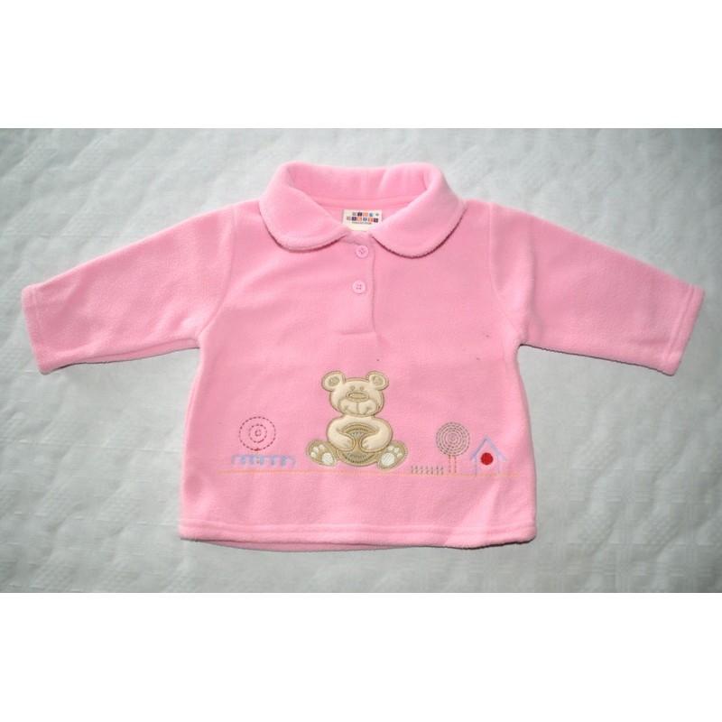 8dd78d2195 Kislány rózsaszín meleg polár pulóver ( 62-68 cm)